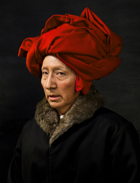 Yasumasa Morimura, 'Self-Portraits through Art History (Van Eyck in a Red Turban)', 20162018, Luhring Augustine