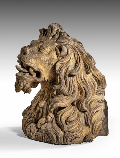 , 'Charles II Ship's Figurehead in the form of a lion,' ca. 1680, Thomas Coulborn & Sons