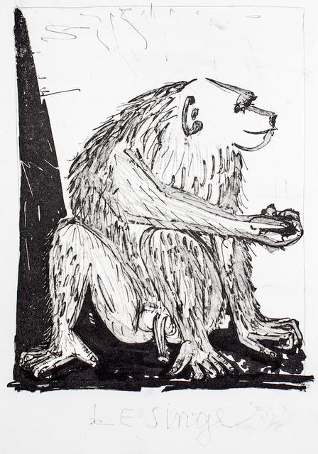 """Pablo Picasso, 'Le Singe - From """"L'Histoire Naturelle de Buffon""""', 1941-1942, Wallector"""