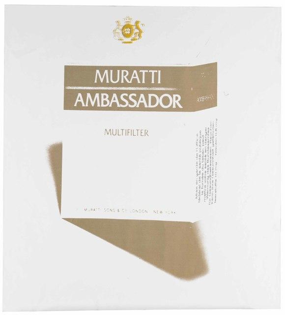 Andy Warhol, 'Muratti Ambassador Cigarettes', circa 1984, Christie's