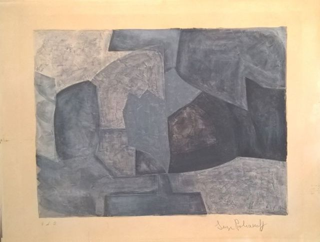 Serge Poliakoff, 'Composition grise ', 1966, Print, Lithograph on paper, Le Coin des Arts