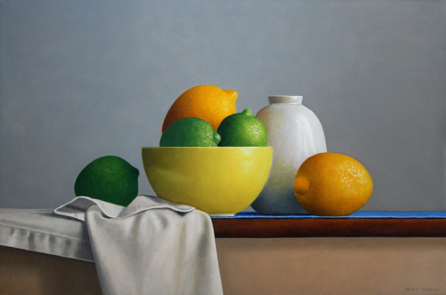 , 'Lemons, Limes and Pottery,' 2017, Gallery Henoch