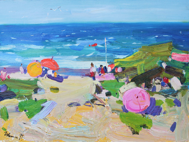 , 'At the Beach,' 2017, Paul Scott Gallery & galleryrussia.com