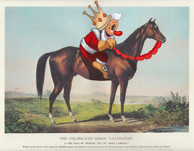 , 'The Celebrated Horse,' 2017, heliumcowboy