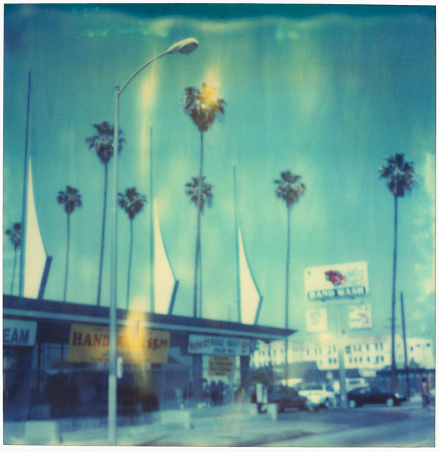 Stefanie Schneider, 'Car Wash (analog) 58x56cm - Edition 1/10, mounted ', 1999, Photography, Analog C-Print, hand-printed by the artist on Fuji Crystal Archive Paper, based on a Polaroid, mounted on Aluminum with matte UV-Protection, Instantdreams