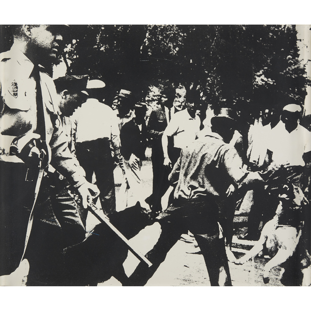 Andy Warhol, 'Birmingham Race Riot from X + X (Ten Works by Ten Painters)', 1964, Print, Screenprint on wove paper, Freeman's