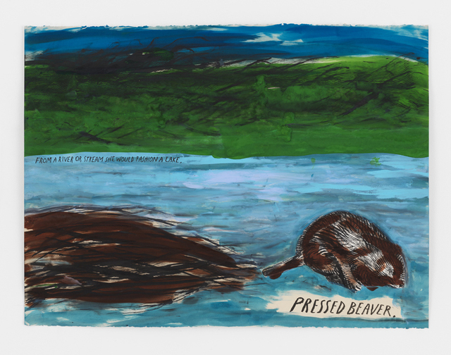 , 'No Title (Pressed Beaver),' 2017, David Zwirner