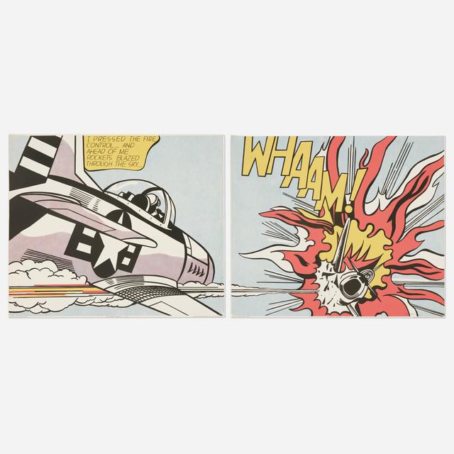 Roy Lichtenstein, 'WHAAM! poster (diptych)', 1963 / 1968, Print, Offset lithograph on paper, Rago/Wright