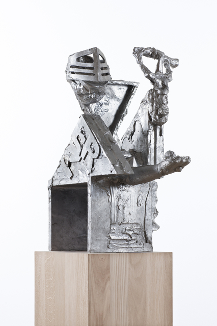 """, '""""STEINSCHLEUDER UND MURMELN (ERZGENERAL """"GNULLI-GNARPSL"""" AM RUDEL)"""",' 2015, Galerie Krinzinger"""