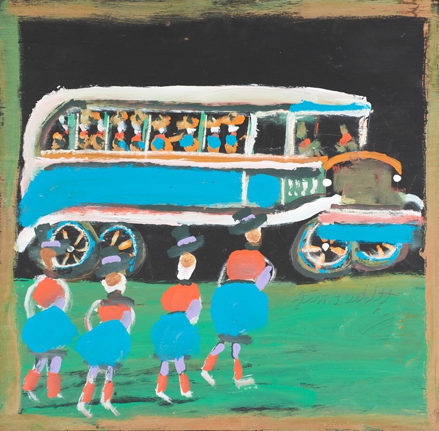 Jimmy Lee Sudduth, 'Untitled (Waiting for a Bus)', Painting, Rago/Wright