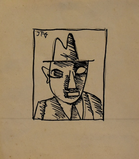 , 'Hombre con sombrero,' 1921, Galería de las Misiones