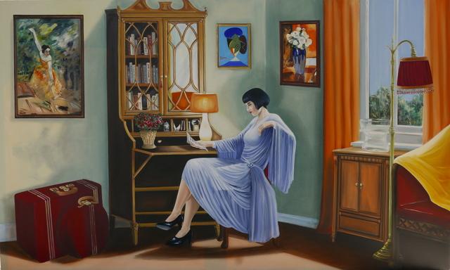 Andres Conde, 'La Viajera', 2018, Painting, Oil on Canvas, Conde Contemporary