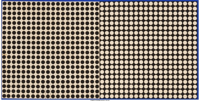 Victor Vasarely, 'TRAMES NB-1', 1964, Drawing, Collage or other Work on Paper, Collage on panel with gouache frame, Heritage Auctions