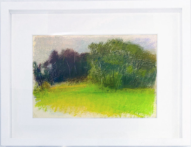 Wolf Kahn, 'Moody American Landscape', 1995, Drawing, Collage or other Work on Paper, Pastel on paper, Robert Fontaine Gallery