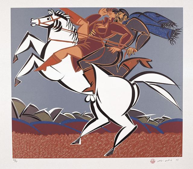 , 'Riders,' 2003, al markhiya gallery