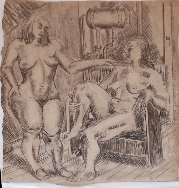 Irene Rice Pereira, 'Two Nudes in an Interior', 1933, Bill Hodges Gallery