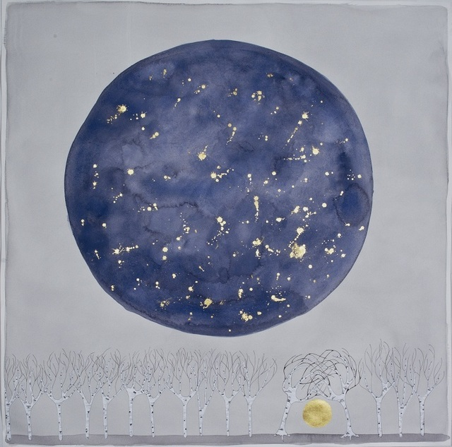 ", 'the moon , ""you and me "",' 2015, Galerie du Monde"