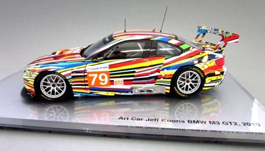 Jeff Koons, 'BMW Art Car 1:18 scale model', 2011, Sculpture, Painted diecast metal with display case, EHC Fine Art