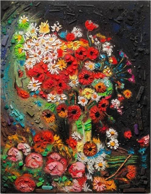 Vik Muniz, 'Metachrome (Flowers, after Vincent van Gogh)', 2016, Matthew Liu Fine Arts