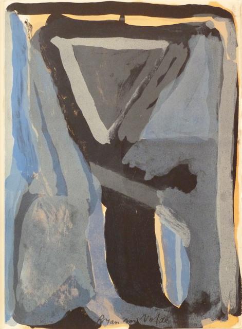 Bram van Velde, ' L'unique planche 5', 1973, Le Coin des Arts