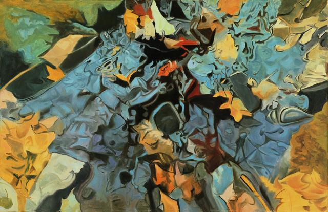 , 'The Blue Rock,' 1984, Walter Wickiser Gallery