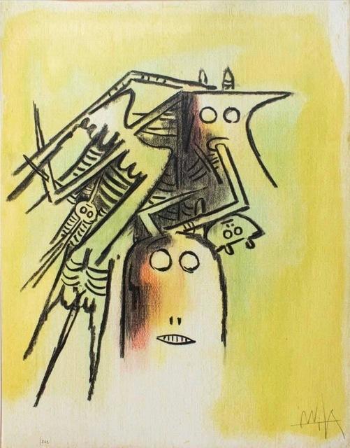 Wifredo Lam, 'Elle, casqué, from Pleni Luna', 1974, Kunzt Gallery