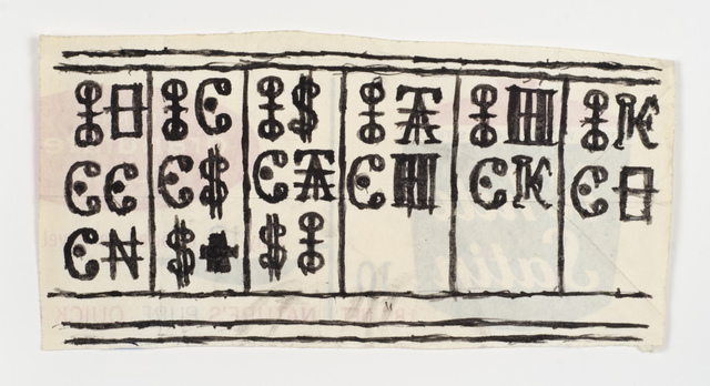 , 'Untitled (Cyrillic inspired letterforms and dollar signs),' , Fleisher/Ollman