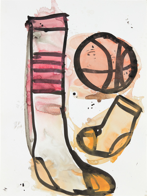 Katherine Bernhardt, 'Untitled', 2014, Painting, Ink and watercolor on paper, Phillips