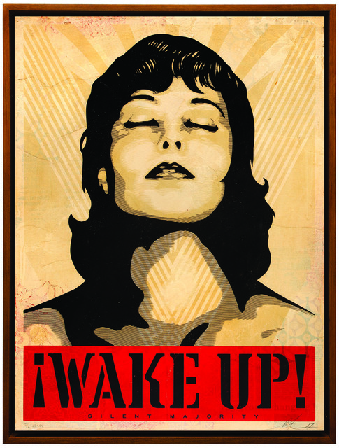 Shepard Fairey (OBEY), 'Wake Up', 2017, Underdogs Gallery