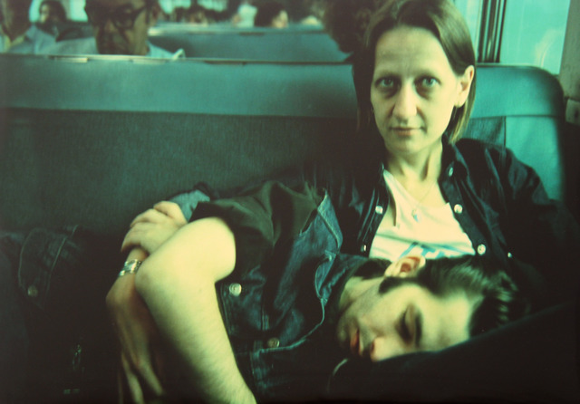 , 'Suzanne and Philippe on the train, Long Island, NY,' 1985, ClampArt