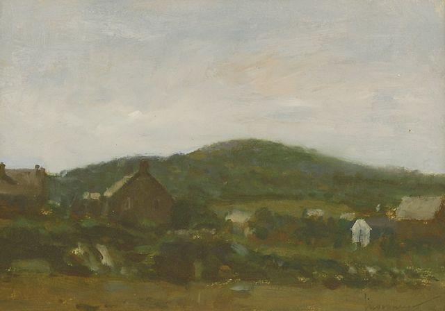 Ken Moroney, 'A CORNISH LANDSCAPE', Painting, Oil on paper, Sworders