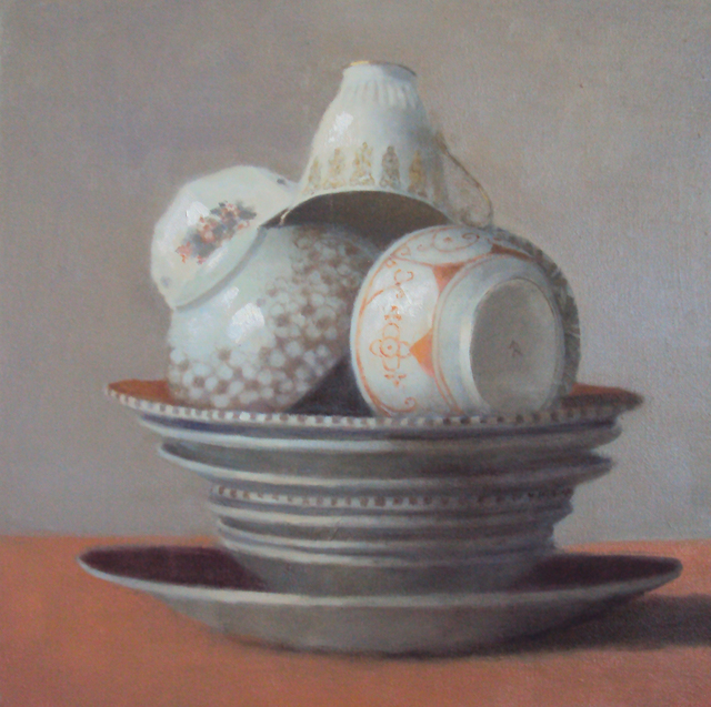 Olga Antonova, 'Cups on Orange Plate', 2016, Rice Polak Gallery