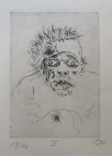 """Otto Dix, 'Wounded Man Fleeing (Battle of the Somme 1916), Plate 10 from """"der Krieg""""', 1924, Kwiat Art"""
