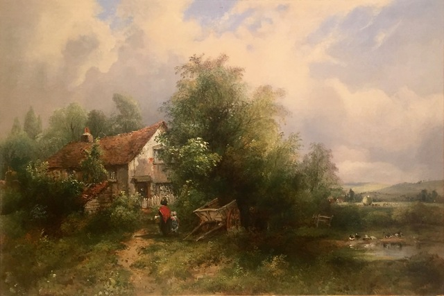 , 'Figures by a Cottage ,' , Anderson Galleries