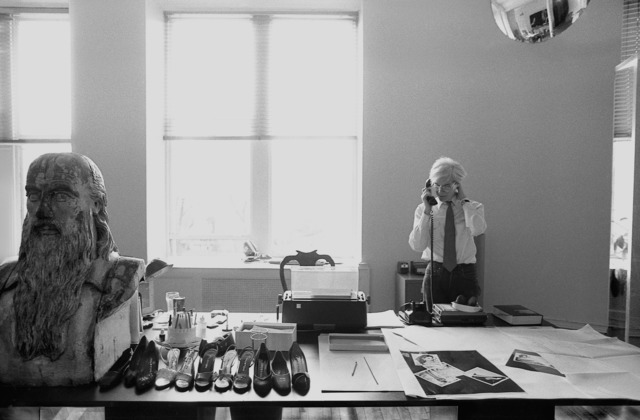 , 'Andy Warhol with Leonardo Bust, Halston Shoes 1981,' 2015, Maison Gerard