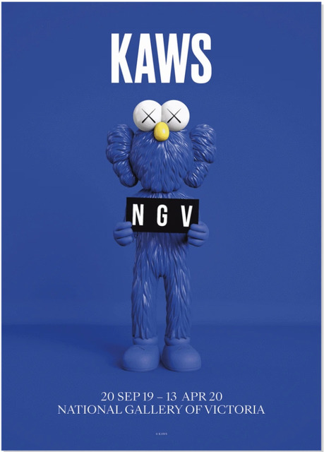 KAWS, 'National Gallery of Victoria Poster BFF Blue', 2019, Posters, Thick Poster Paper, Gallery 1890