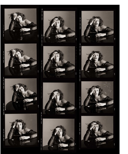 , 'Kelly LeBrock as Sloth, Contact Sheet, Los Angeles,' 1985, Fahey/Klein Gallery