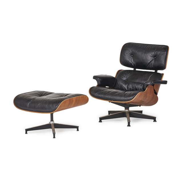 Charles and Ray Eames, 'Lounge Chair And Ottoman (No. 670 And 671), Zeeland, MI', 1960s, Rago/Wright