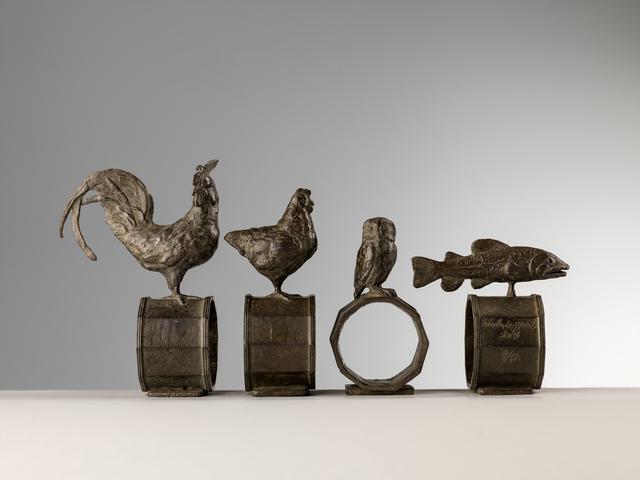 , 'Set of 4 napkin rings,' 2016, Sladmore Contemporary