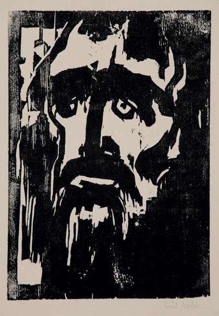Emil Nolde, 'Prophet', 1912, Print, Woodcut on strong chamois handmade paper., Henze & Ketterer & Triebold