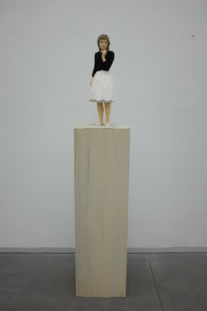 , 'Frau mit weissem Rock und schwarzer Bluse,' 2017, Deweer Gallery