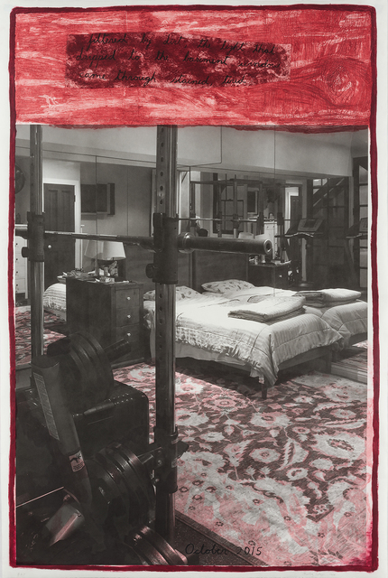 Enrique Martínez Celaya, 'The Mirrored Dinosaur', 2020, Print, Archival inkjet, collagraph, silkscreen and chine collé on Shiramine Paper, Island Press