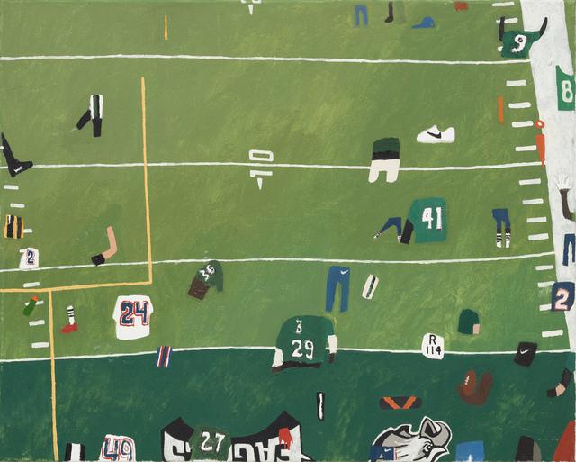 , 'Uprights, End Zone, Hash Marks, Shorts,' 2018, Steve Turner