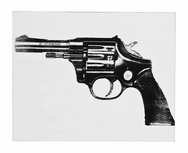 Andy Warhol, 'Gun', Synthetic polymer and silkscreen ink on canvas, Christie's
