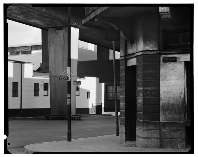 , 'On the street corner of Pim and Goch Streets, under the M1, Newtown,' 1975, Goodman Gallery