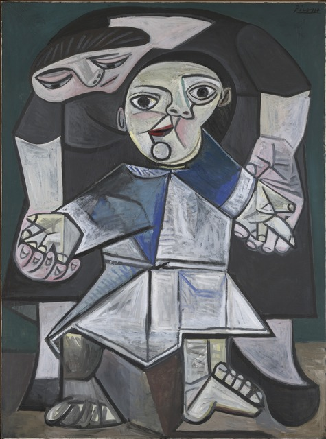 Pablo Picasso, 'Mother and Child (First Steps)', 1943; revised summer 1943, Painting, Oil on canvas, Yale University Art Gallery