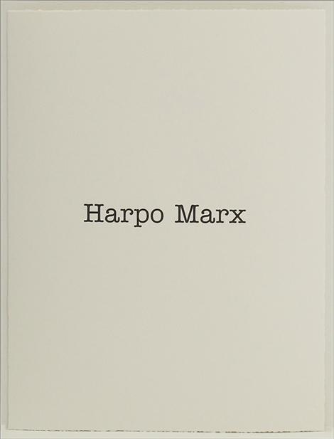 Simon Patterson, 'Harpo Marx', 2018, SCHOOL