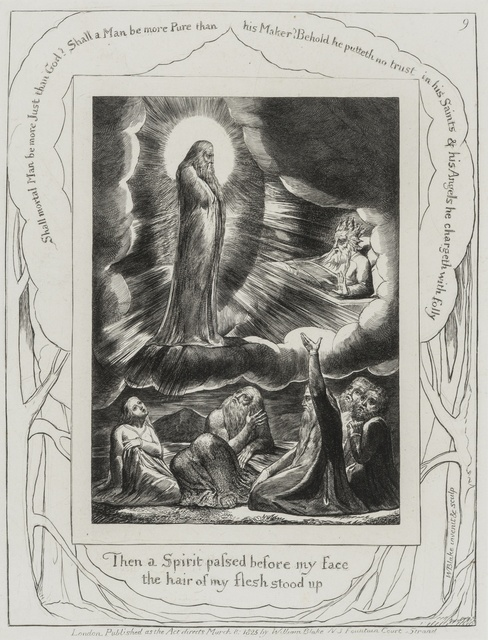 """William Blake, '""""Then a Spirit passed before my face, the hair of my flesh stood up""""', Forum Auctions"""