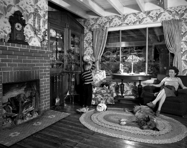 O. Winston Link, 'NW720 Living Room on the Tracks, Lithia, Virginia', 1955, Robert Mann Gallery