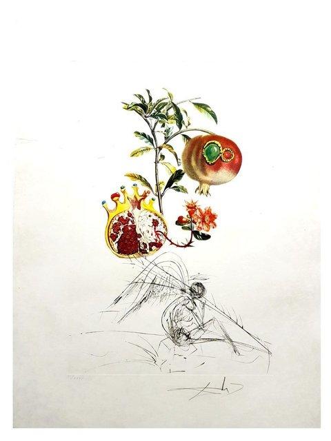 "Salvador Dalí, 'Original Lithograph ""Flordali - Angel and Pomegranate"" by Salvador Dali', 1969, Galerie Philia"